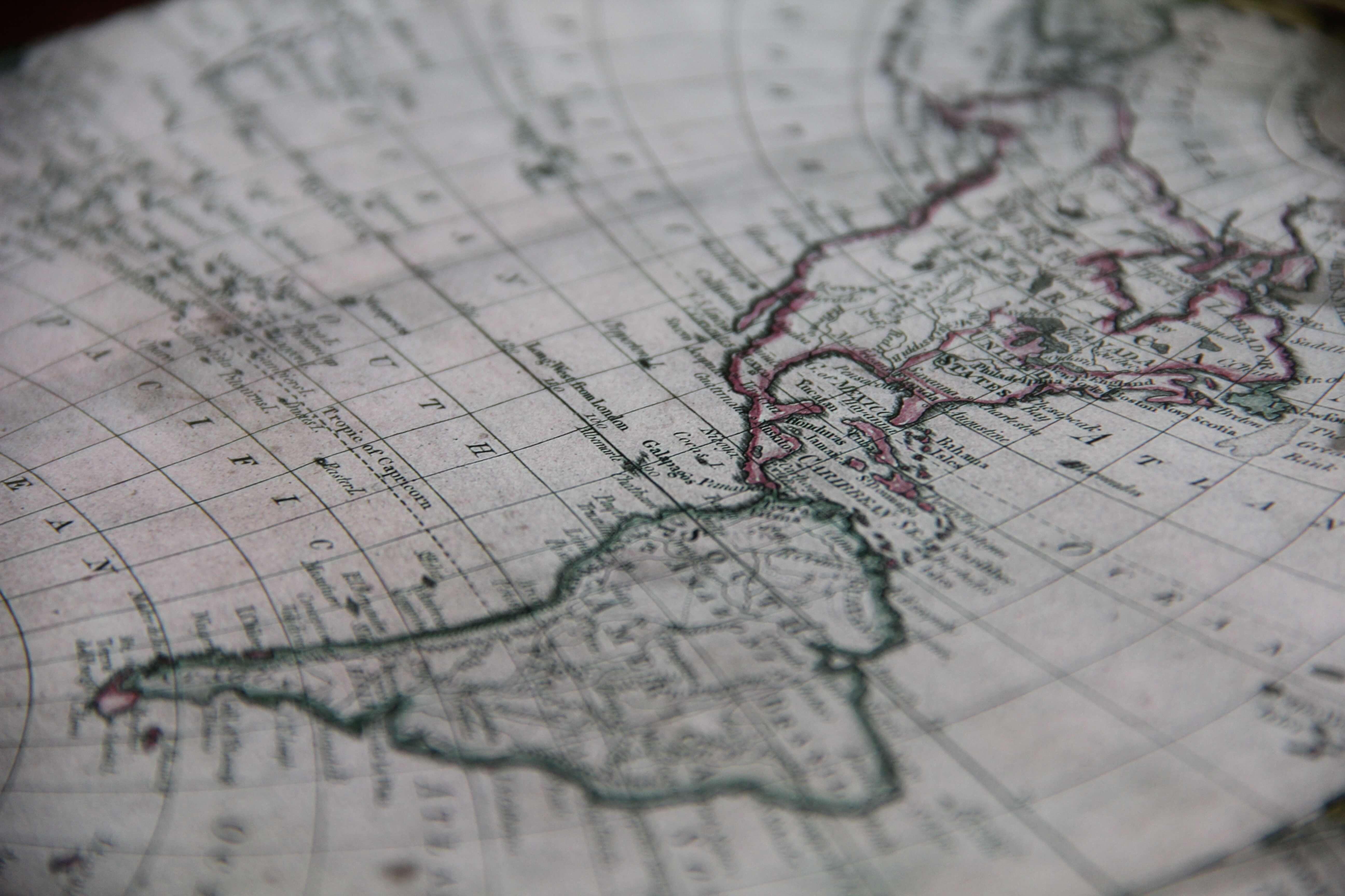 Mapa das Américas