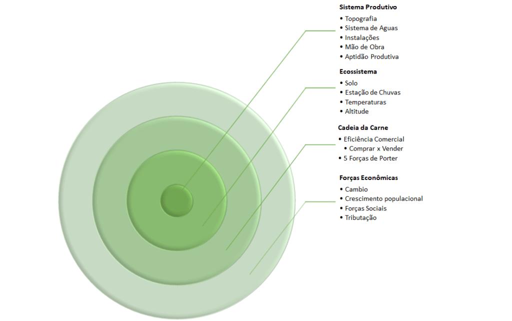Forças que Afetam o Sistema Produtivo. Elaboração: Agromove.