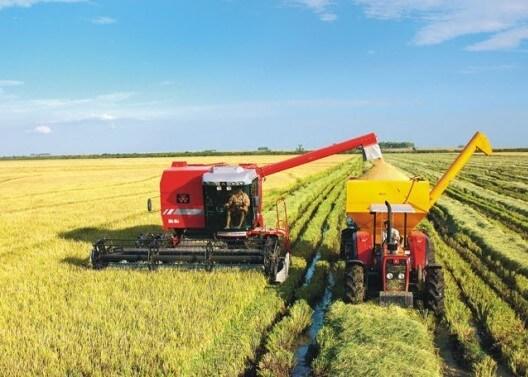 Figura 2 - Sistema de colheita de arroz irrigado. Fonte: CPT - Centro de Produções Técnicas.