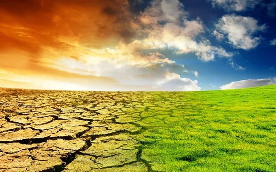 Esquema representativo dos efeitos do aquecimento global. E a esperança de que a biotecnologia pode auxiliar a restaurar o equilíbrio natural.