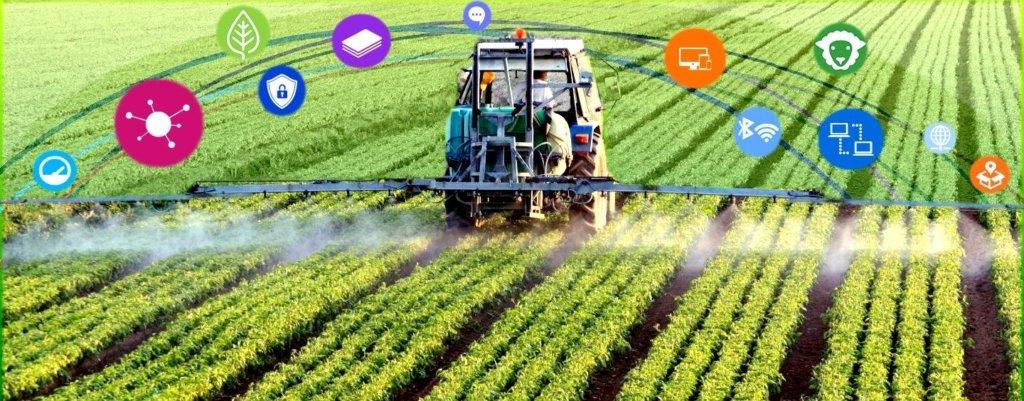Imagem representativa da integração de tecnologias que serão responsáveis pelo futuro da agricultura.