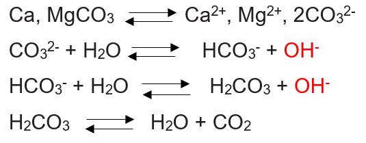 Reações do calcário no solo.